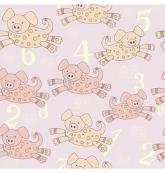 piggy pattern vector image vector image