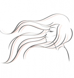 profile women vector image vector image