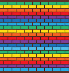 rainbow bricks vector image vector image