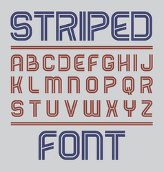 striped label font poster vector image