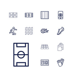 13 soccer icons vector