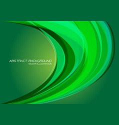 abstract green light curve energy dynamic vector image