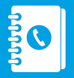 address book icon white vector image