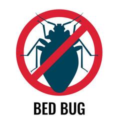Anti bed bug emblem white vector