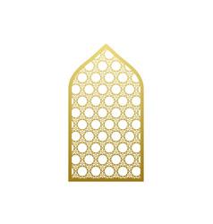 Arab window door pattern arabian islamic vector
