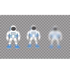 Astronaut space traveler astronaut with varying vector
