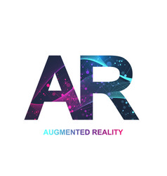 Augmented reality concept banner ar virtual vector