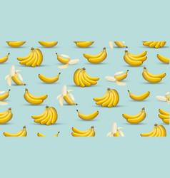 banana background 3d realistic style vector image