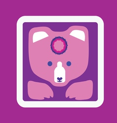 Bear icon-design with mandala vector
