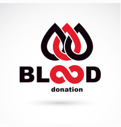 Blood donation concept graphic isolated on white vector