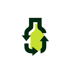 Bottle recycle logo icon vector