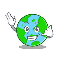 Call me world globe character cartoon vector
