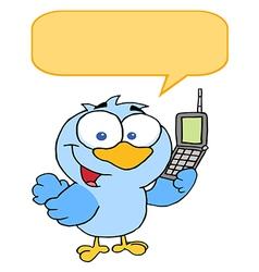 Calling bird cartoon vector
