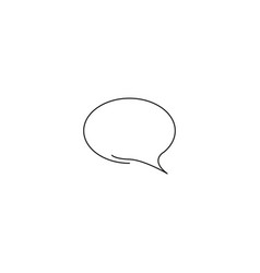 Chat buble icon vector