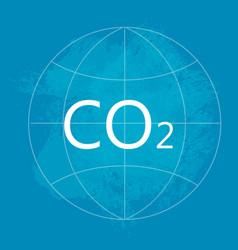co2 environment pollution concept vector image