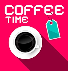 Coffee Time Retro Paper vector image