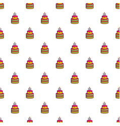Colorful birthday cake pattern vector