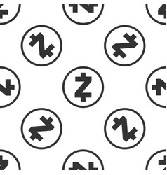 cryptocurrency coin zcash zec seamless pattern vector image