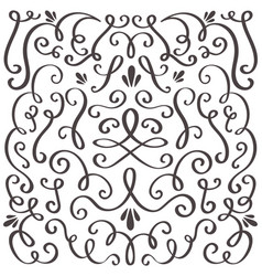 decorative swirls swirled vintage ornament vector image