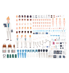 Doctor character constructor female vector