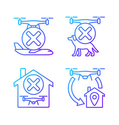 Drone instruction gradient linear manual label vector