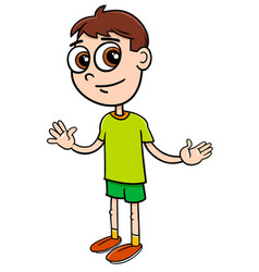 elementary age boy cartoon vector image