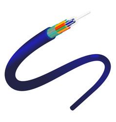 Fiber optics object closeup blue color vector