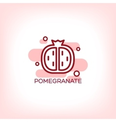 fruits pomegranate flat icon vector image