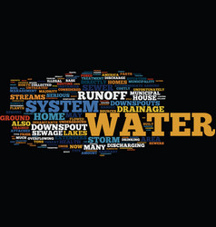 Good water drainage for your home text background vector