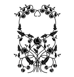 Graphic element flowers and frame 2 vector