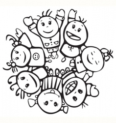 happy children of different races vector image