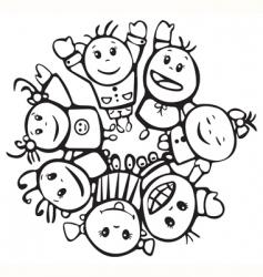 happy children of different races vector image vector image