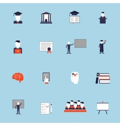 Higher Education Icon Flat vector