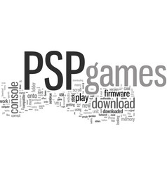 how to play psp download games vector image