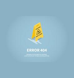 isometric concept web error page vector image