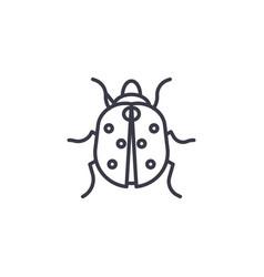 ladybug line icon sign on vector image
