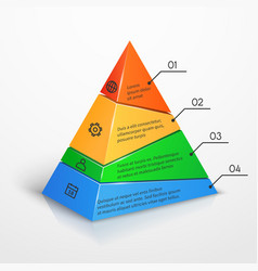 Layers hierarchy pyramid chart presentation vector