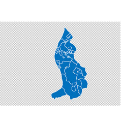 Liechtenstein map - high detailed blue map vector