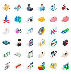 Mandatory icons set isometric style vector