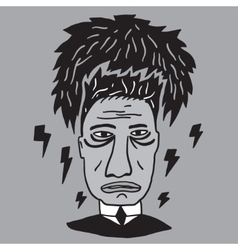 mans stress fatigue vector image