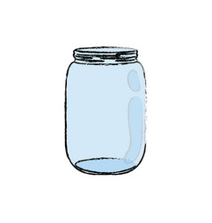 Mason jar glass vector