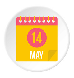 May 14 calendar icon circle vector