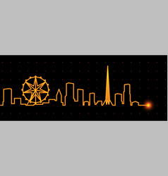melbourne light streak skyline vector image