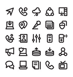 Network and communication line icons 8 vector