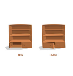 old cupboard in cartoon style isolated image vector image