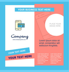 online banking company brochure template busienss vector image