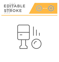 parking machine editable stroke line icon vector image