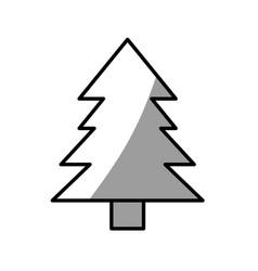 Pine tree natural picnic shadow vector