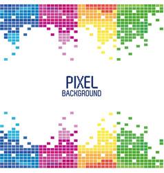 pixel background in multi color vertical stripes vector image