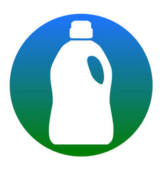 plastic bottle for cleaning white icon in vector image